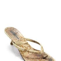 Manolo Blahnik Womens Strappy Beige Leather Kitten Heels Sandals Size Eur 36.5 Photo