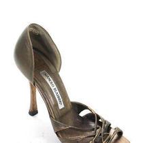 Manolo Blahnik Womens Strappy Brown Leather Stilettos Sandals Size Eur 35.5 Photo