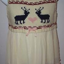 Manoush Lambs Wool Sweater Silk Chiffon Reindeer Babydoll Top Blouse M Photo