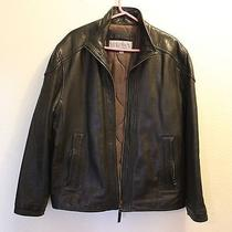 Mans Leather Jacket Marc New York Photo
