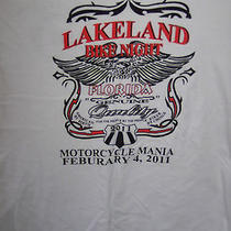 Mans T Shirt Lakeland Bike Night Motor Cycle Mania Photo