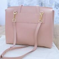 Mansur Gavriel Calf Lady Bag Top Handle Leather Tote Blush Pink 945 Msrp Photo