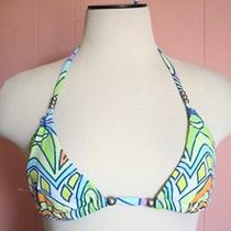 Mara Hoffman Stained Glass Print String Bikini Top L Large Pastel Madewell Photo
