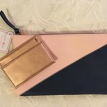 Mara Mi Pink & Navy Clutch With Rose Gold Holder 9 X 5.5 Photo