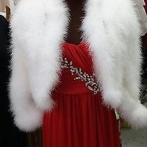 Marabou Feather Custom Made Bolero Jacket Blush Size Sm-Med White Wedding Shrug Photo