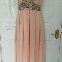 Marc Angelo Size 10 Blush Baby Pink Strapless Bandeau Evening Dress Wired Bust Photo
