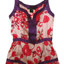 Marc by Jacobs New 228 Blush Silk Rose Pop Sleeveless Top X-Small Small 2  Photo