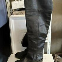 Marc by Marc Jacobs Black Leather Flat Riding Over the Knee Boots Size 39/8 Photo
