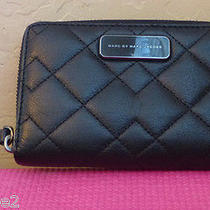 Marc by Marc Jacobs Black Leather Quilted Iphone Wallet Photo