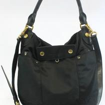 Marc by Marc Jacobs Black Purse Preppy Nylon Hobo Shoulder Bag Handbag 248 Photo