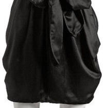 Marc by Marc Jacobs Black Silk Bow Tie Bubble Skirt Size 2 Photo