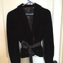 Marc by Marc Jacobs Black Velvet Jacket Us Size 8 Photo