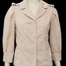 Marc by Marc Jacobs Blush Cotton Button Front Jacket Size 8 Photo