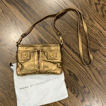 Marc by Marc Jacobs Bronze Gold Small Leather Crossbody Purse Photo