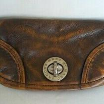 Marc by Marc Jacobs Brown Distressed Leather Clutch Bag Photo
