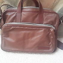 Marc by Marc Jacobs Brown Leather Briefcase Computer Tote  Photo