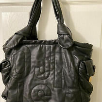 Marc by Marc Jacobs Classic Black Leather Hobo Shoulder Purse Bag Photo