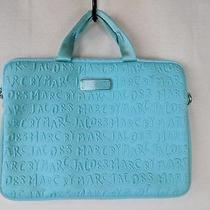 Marc by Marc Jacobs Computer Laptop Neoprene Bag Briefcase Turquoise Photo