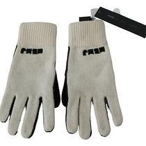 Marc by Marc Jacobs Gloves White Black Wool Nylon Women S. S / 0 Rrp 120 Photo