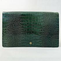Marc by Marc Jacobs Green Handbag Clutch With Crocodile Texture Photo