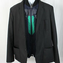Marc by Marc Jacobs Men's Black Blazer Zipout Navy Green Brown Vest Size Xl Photo