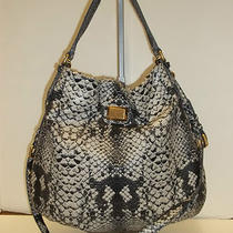 Marc by Marc Jacobs Multicolor Python Embossed Leather Hillier Hobo Handbag Photo