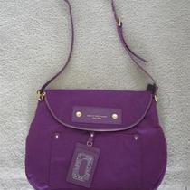 Marc by Marc Jacobs Natasha Preppy Nylon Violet Crossbody Bag Nwt Photo