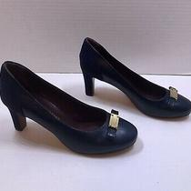 Marc by Marc Jacobs Navy Blue Leather/suede Logo Size 38.5 Us 8 Pumps Shoes Photo