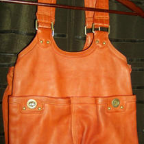 Marc by Marc Jacobs Orange Leather Handbag Photo