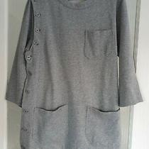 Marc by Marc Jacobs Oversized Sweatshirt Tunic Top Sz Xs/s Grey Pockets Buttons Photo