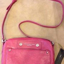 Marc by Marc Jacobs Preppy Leather Camera Crossbody Amethyst 298 Nwt Photo