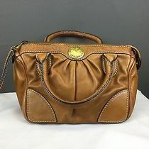 Marc by Marc Jacobs Saddle Leather Satchel Handbag Purse Maple Tan  Photo