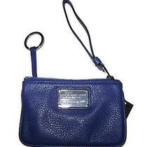 Marc by Marc Jacobs Scuba Blue Leather Small Q Key Ring Wristlet Nwt 128 Photo