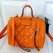 Marc by Marc Jacobs Small Moto Barrel Bag in Orange Nwt Photo