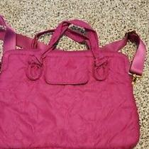 Marc by Marc Jacobs Standard Supply Magenta Quilted Logo Nylon Laptop Bag  Photo