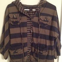 Marc by Marc Jacobs Striped Button Down Hoodie Size Xs Photo