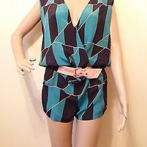 Marc by Marc Jacobs Swimwear Blue Tones Romper Silk  Coverup Size S Photo