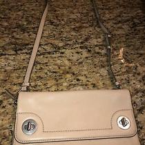 Marc by Marc Jacobs Turn Lock  Crossbody Flap Clutch Beige Pebbled Leather Bag Photo