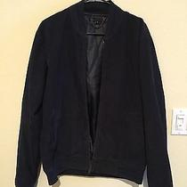Marc by Marc Jacobs Washed Black With Navy Stripe Bomber Jacket Photo