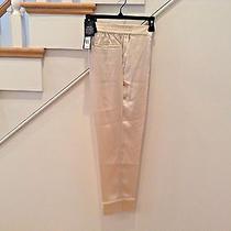 Marc by Marc Jacobs-Womans Silk Slacks W/ Cuff-New W/ Tags-Shimmering Beige-358 Photo
