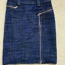 Marc by Marc Jacobs Womens Skirt Blue Tweed Wool Size 4 Photo