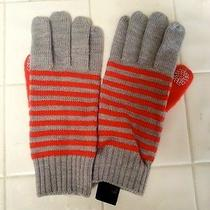 Marc by Marc Jacobs Womens Chrome Melange Multi Gloves One Size Gray Orange Nwot Photo
