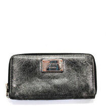 Marc by Marc Jacobs Womens Medium Gray Leather Clutch Wallet Photo