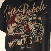 Marc Ecko Cut Sew True Rebels Motorcycle Club Ny City Time Square Medium Bike  Photo