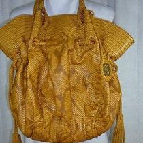 Marc Ecko Red Hobo Brown Camel Large Shoulder Handbag Tote Faux Alligator 16x14 Photo