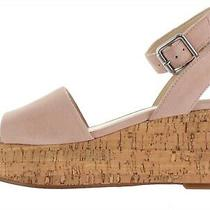 Marc Fisher Leather Wedge Sandal Rillia Blush 7m  A365517 Photo
