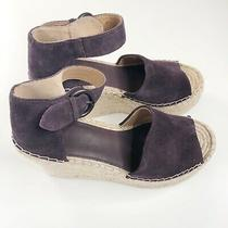 Marc Fisher Mlalida Leather Upper Espadrille Blush Wedge Sandals Sz 8.5 Purple Photo