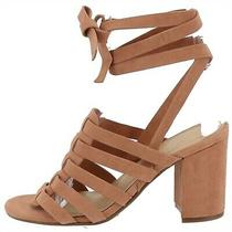 Marc Fisher Suede Ankle Wrap Sandals Pheobe Blush 6.5m New A287479 Photo