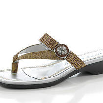 Marc Fisher Womens Adella2 Shoes Natural Sandals Flip Flops Open Toe 6 M Photo
