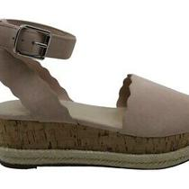 Marc Fisher Womens Faitful Suede Peep Toe Casual Ankle Strap Blush Size 8.5 Lq Photo
